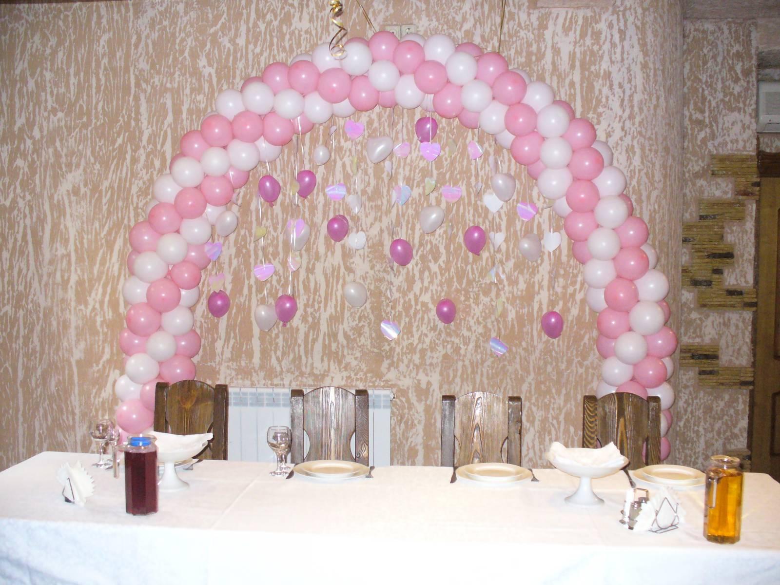 Свадебные арки из шаров и цветов фото
